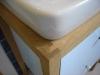 Detail wastafel meubel