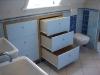 Inbouw ladekast onder schuin dak